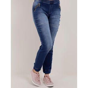 Calça Jogger Jeans Feminina Azul 36