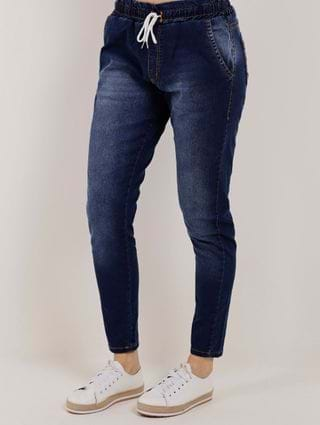 Calça Jogger Jeans Feminina Azul