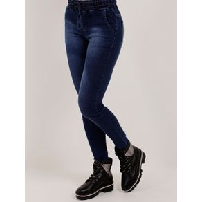 Calça Jogger Jeans Feminina Mokkai Azul 38
