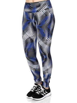 Calça Legging Feminina Azul/preto