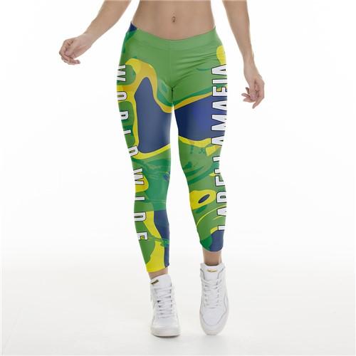 Calça Legging Feminina Nations Brasil - M