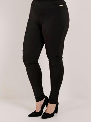 Calça Legging Feminina Plus Size Preto