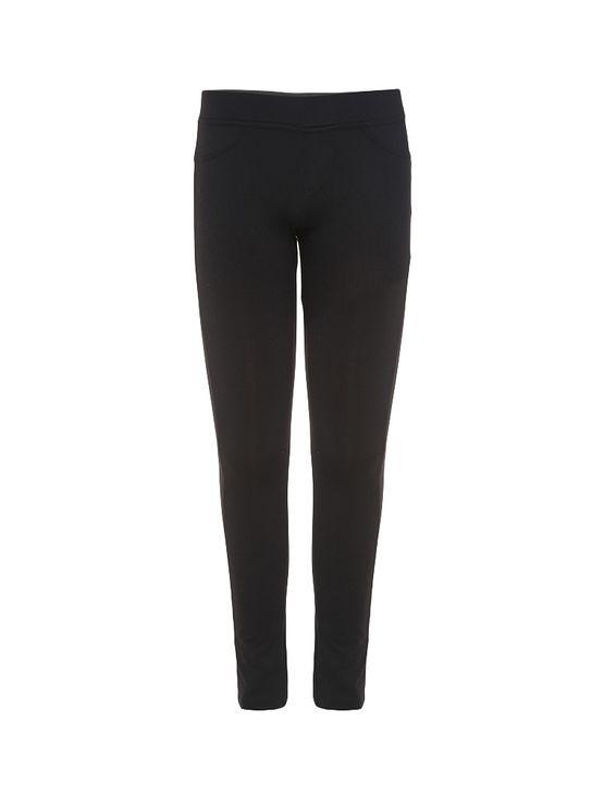 Calça Legging Infantil Calvin Klein Jeans Silk Traseiro Preto - 2