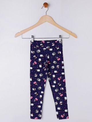 Calça Legging Infantil para Menina - Azul