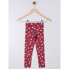 Calça Legging Infantil para Menina - Vermelho 4
