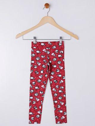 Calça Legging Infantil para Menina - Vermelho