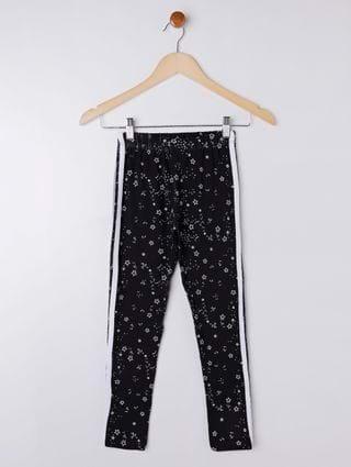 Calça Legging Juvenil para Menina - Preto/estampado