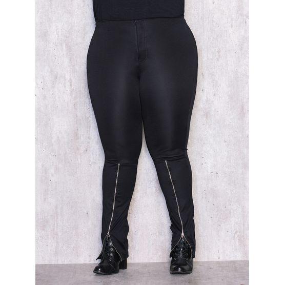 Calça Legging Plus Size com Zíper na Perna P