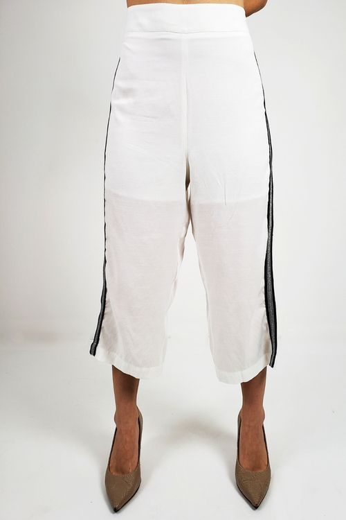 Calça Midi Stripe Off White Calça Midi Stripe Off White - 38
