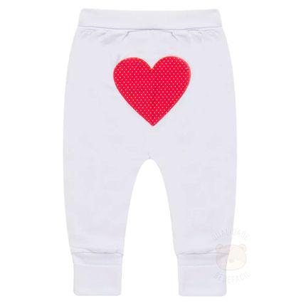 Calça (mijão) C/ Pé Reversível para Bebe Coração - Biramar Baby