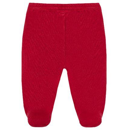 Calça (mijão) para Bebê em Suedine Vermelha - Tilly Baby
