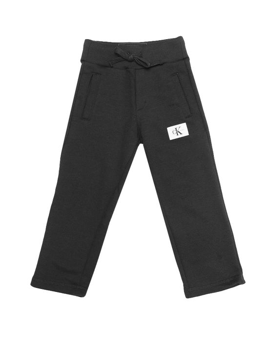 Calça Moletom Infantil Calvin Klein Jeans Etiqueta Logo Preto - 4