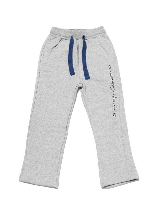 Calça Moletom Infantil Calvin Klein Jeans This Is My Calvin Mescla - 4