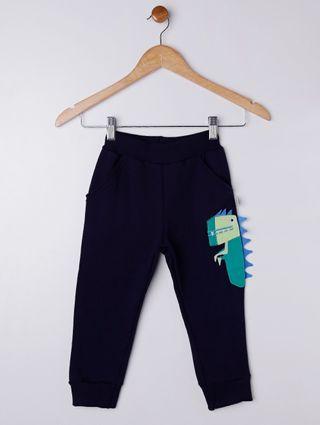 Calça Moletom Infantil para Menino - Azul Marinho