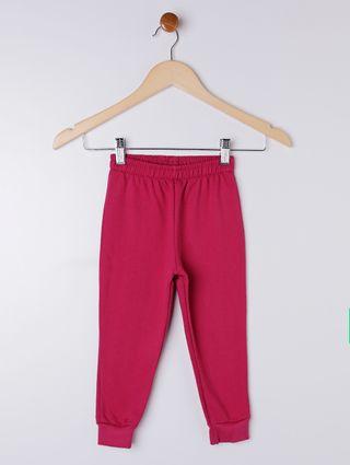Calça Moletom Jogger Infantil para Menina - Rosa