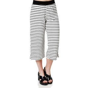 Calça Pantacourt Feminina Autentique Off White M