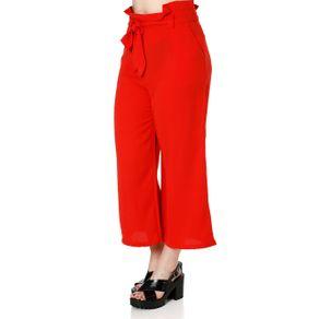 Calça Pantacourt Feminina Vermelho M