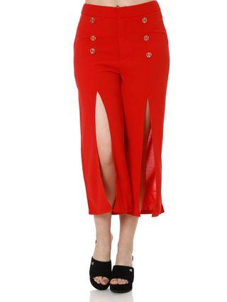 Calça Pantacourt Feminina Vermelho
