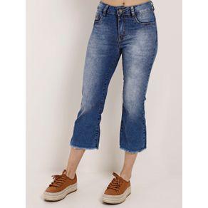 Calça Pantacourt Jeans Feminina Amuage Azul 38