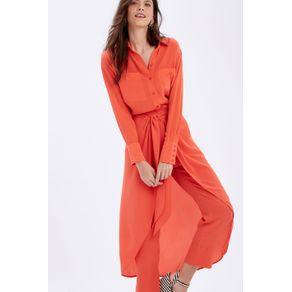 Calça Pantalona Amarração Vermelho Raspberry - 38