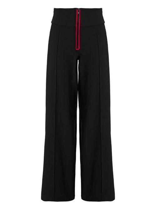 Calca Pantalona Cintura Alta Preto Nero P