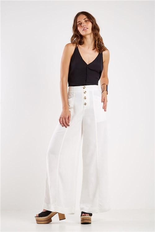 Calça Pantalona Linho Off White - 36
