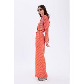 Calca Pantalona Listras Diagonais Est Listra Opticalvermelho - 36