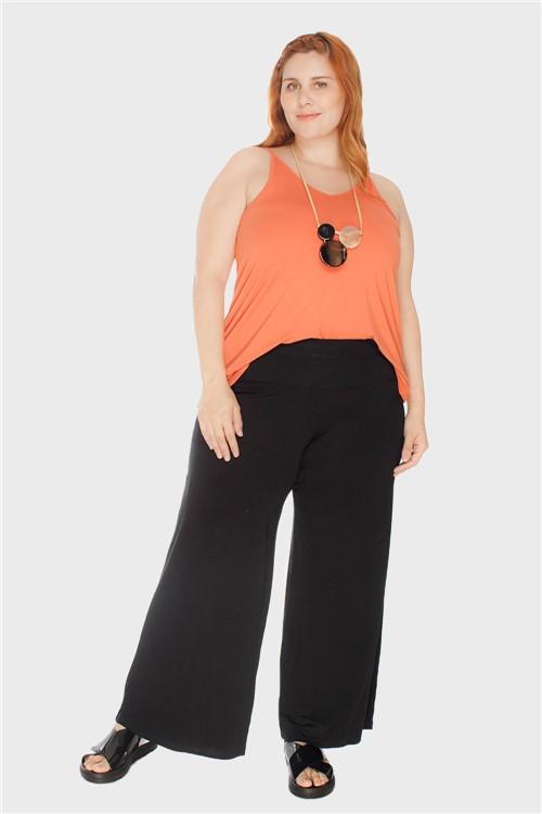 Calça Pantalona Plus Size Preto-46/48