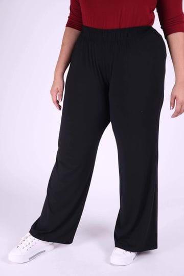 Calça Pantalona Plus Size Preto EX