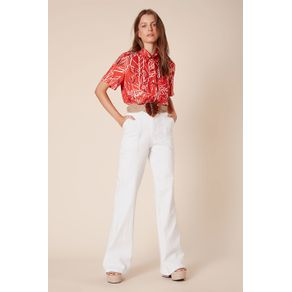 Calça Pantalona White Denim Off White - 34