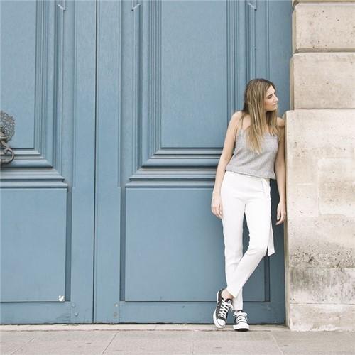 Calça Paris - Alfaiataria + Malha Off White - 36