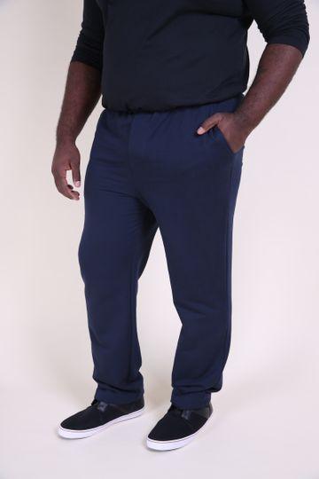 Calça Plus Size Moletom Azul Marinho EX