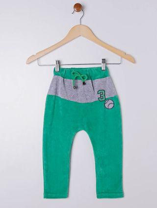 Calça Plush Infantil para Menino - Verde