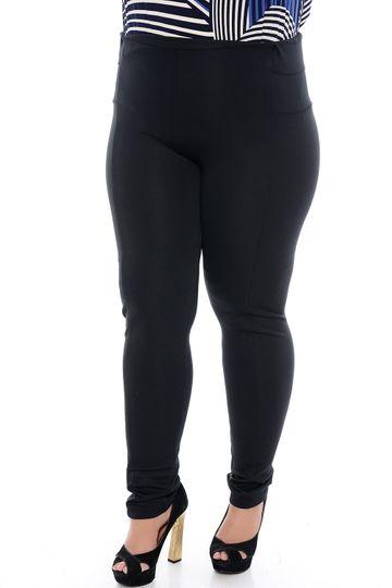 Calça Preta Skinny Plus Size