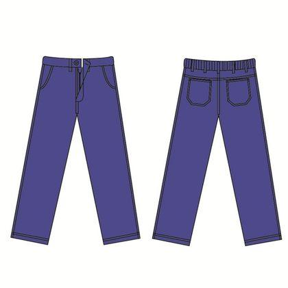 Calça Protera® com Ziper Categoria 2 Azul Marinho Dupont 48