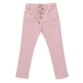 Calça Sarja Infantil para Menina - Rosa 1
