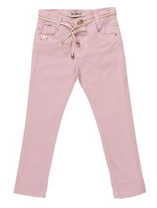 Calça Sarja Infantil para Menina - Rosa