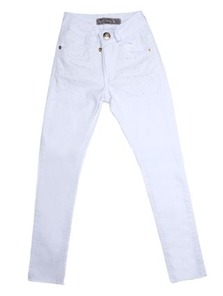 Calça Sarja Juvenil para Menina - Branco