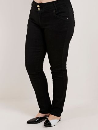 Calça Sarja Plus Size Feminina Preto