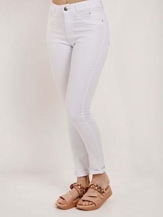 Calça Sarja Skinny Feminina Branco