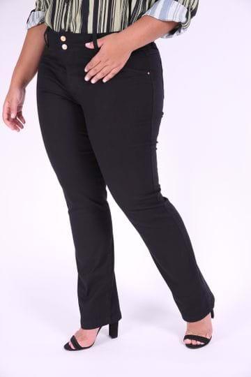 Calça Sarja Skinny Feminina Plus Size Preto 46