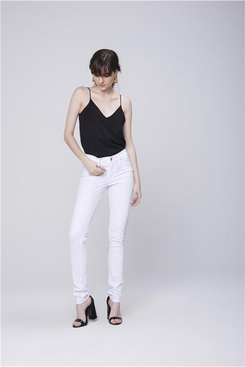Calça Skinny Branca Feminina