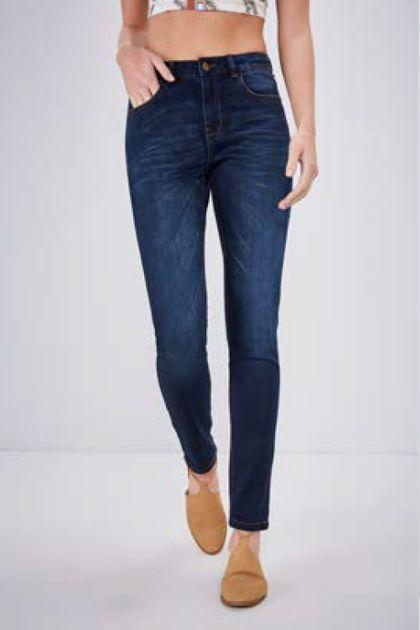 Calça Skinny Cantão Comfort Dark Jeans - Azul