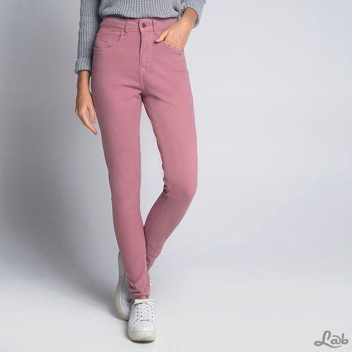 Calça Skinny Cintura Alta Rosa - 34