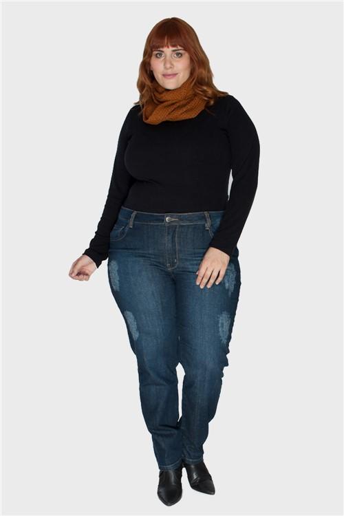Calça Skinny Classy Plus Size Marinho-48