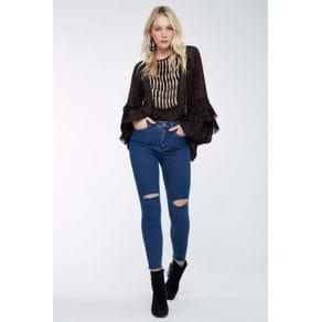 Calca Skinny Rasgo Joelho Jeans - 38
