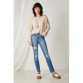 Calça Skinny Super Rasgada Jeans - 34
