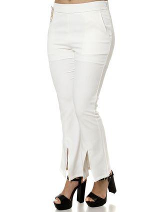 Calça Tecido Feminina Off White