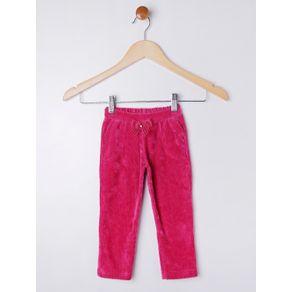 Calça Veludo Infantil para Menina - Rosa Pink 1