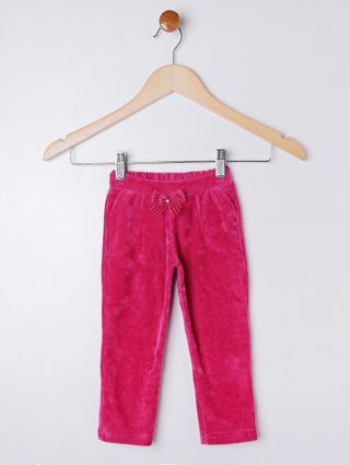Calça Veludo Infantil para Menina - Rosa Pink